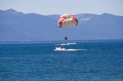Parasailing on Lake Tahoe